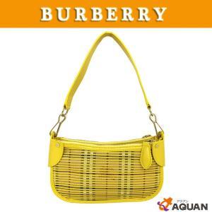 大特価セール! BURBERRY バーバリー ショルダーバッグ ヘイマーケットチェック レザー イエロー|aquankyoya