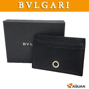 BVLGARI ブルガリ カードケース 名刺入れ メンズ ブルガリブルガリ レザー ブラック|aquankyoya