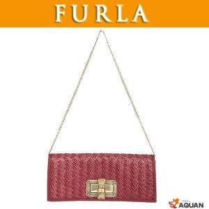FURLA フルラ クラッチバッグ チェーンショルダーバッグ 2WAY レザー ローズピンク|aquankyoya