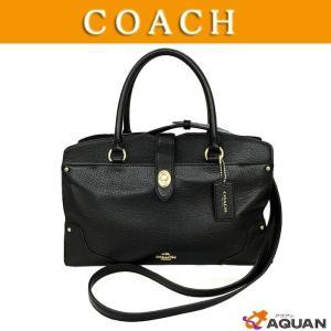 COACH  コーチ 2WAY ハンドバック ミニボストンバッグ ショルダーバッグ レザー ブラック|aquankyoya