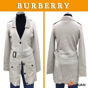 BURBERRY バーバリー バーバリーロンドン ロングカーディガン ウール100% グレージュ表記サイズS レディース|aquankyoya