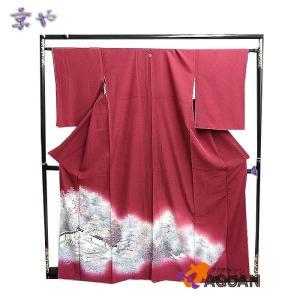 京や 正絹 色留袖 一つ紋 龍安寺 石庭 仕立て上がり リサイクル着物 未使用 新古品 美品|aquankyoya