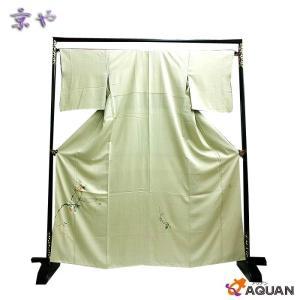 京や 正絹 色留袖 刺繍 柿文様 秋柄 仕立て上がり リサイクル着物 中古 美品|aquankyoya