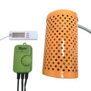 電子サーモスタット+ペットヒーター100W+マルチ湿・温度計 3点保温セット☆|aquapet