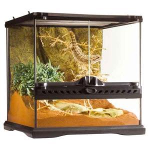 機能的で、デザイン性に優れた爬虫類・両生類用ケージです。  両開きの前面ドアなので、メンテナンスや給...