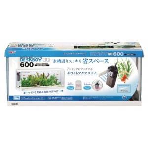 水槽セット 金魚セット 熱帯魚セット/ GEX デスクボーイホワイト600 5点セット☆