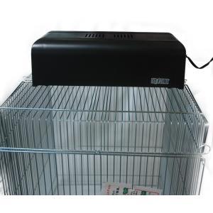 ビバリアの弱紫外線スパイラルランプとGEXコンパクトトップ30のセットです。  小鳥かごの天井網の上...