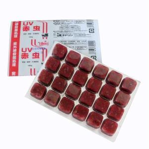 キョーリン UV赤虫 1枚 (冷凍) 【通常商品と同梱不可】 別途冷凍便代金加算 aquapet