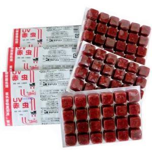通常商品と同梱不可/ キョーリン UV赤虫 6枚セット(冷凍)|aquapet