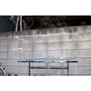 アクリル水槽 膨潤接着1500x600x450 オールクリア 板厚8mm(底面6mm) aquashop-create