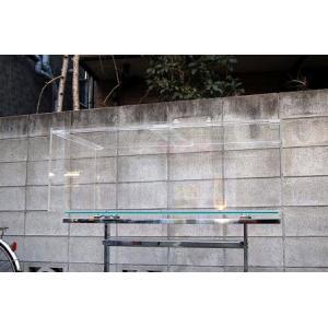 アクリル水槽 重合接着1500x450x450 底面黒 板厚10mm(底面8mm)