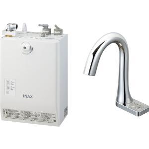 LIXIL INAX ゆプラス 自動水栓一体型壁掛 適温出湯スーパー節電タイプ 3L グースネックタイプ 手動・湯水切替スイッチ付 EHMN-CA3ECSB3-213C|aquashop07