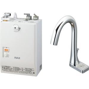LIXIL INAX ゆプラス 自動水栓一体型壁掛 適温出湯タイプ 3L グースネックタイプ 手動スイッチ付 EHMN-CA3SB2-211|aquashop07