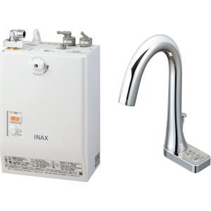 LIXIL INAX ゆプラス 自動水栓一体型壁掛 適温出湯タイプ 3L グースネックタイプ 手動・湯水切替スイッチ付 EHMN-CA3SB3-213|aquashop07