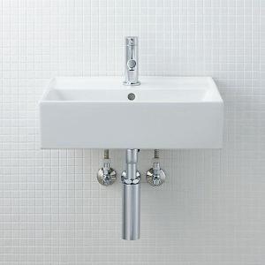 INAX サティス洗面器(YL-555タイプ) 壁掛式 YL-A555SYG(C) YL-A555SYC(C) YL-A555SYP(C) YL-A555SYA(C)|aquashop07