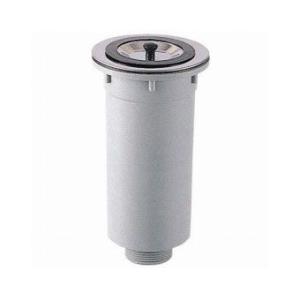 三栄水栓 流し台トラップ(カゴ付き流し排水栓) H65|aquashop07