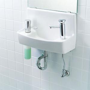 LIXIL INAX 壁付手洗器(プッシュ式セルフストップ水栓)水石けん入れ付タイプ L-A74P2C L-A74P2A L-A74P2D L-A74P2B|aquashop07