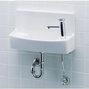 LIXIL INAX 壁付手洗器(プッシュ式セルフストップ水栓) L-A74PC L-A74PA L-A74PD L-A74PB|aquashop07
