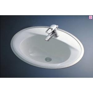 TOTO カウンター式はめ込み楕円形洗面器セット L525RCU + TLHG31DEF|aquashop07
