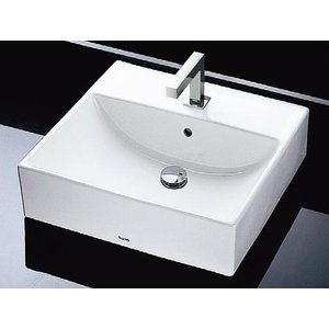 TOTO カウンター式角形洗面器セット ベッセル式 L710C + TENA12E|aquashop07