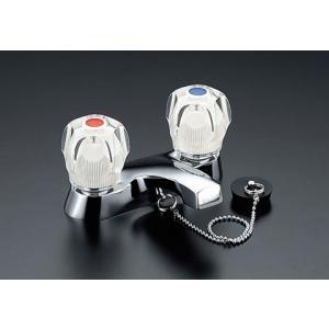 LIXIL INAX 2ハンドル混合水栓 ゴム栓式 LF-275A-G LF-275A-G-U|aquashop07