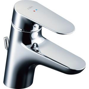 LIXIL INAX シングルレバー混合水栓(ワンホールタイプ)ポップアップ式 LF-WF340S|aquashop07