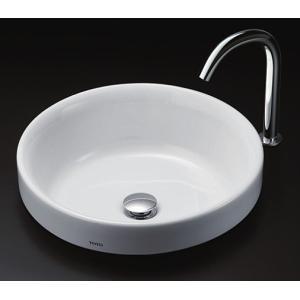 TOTO カウンター式丸形洗面器セット ベッセル式 LS703 + TENA12AL|aquashop07