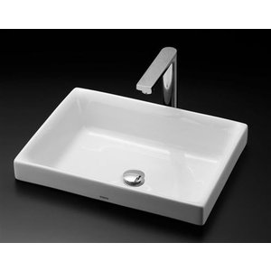 TOTO カウンター式角形洗面器セット ベッセル式 LS716 + TENA12FL|aquashop07