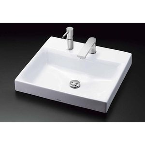 TOTO カウンター式角形洗面器セット ベッセル式 LS717CM + TENA12F|aquashop07