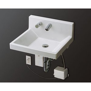 TOTO 壁掛ハイバック洗面器 自動水栓(混合栓) LSF130APL1|aquashop07