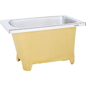 LIXIL サンウエーブ ステンレス浴槽 和洋折衷タイプ 埋込式 ノーエプロン 間口120cmタイプ SBS120-00A|aquashop07
