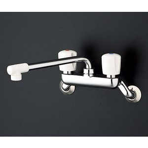 TOTO 2ハンドル混合栓(壁付タイプ) TKJ20AAU|aquashop07