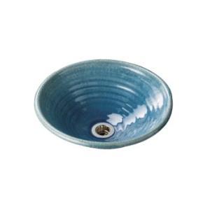 水生活製作所 手洗鉢 美濃焼 ウォーターブルー Lサイズ TM13BL aquashop07