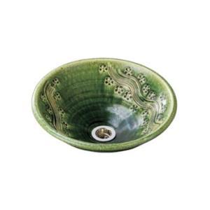 水生活製作所 手洗鉢 美濃焼 織部彫刻(おりべちょうこく) Lサイズ TM13CL aquashop07