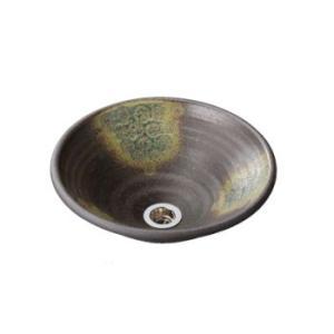 水生活製作所 手洗鉢 美濃焼 灰釉点紋(はいゆうてんもん) Lサイズ TM13HL aquashop07