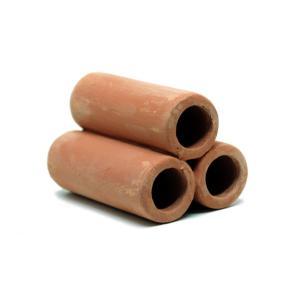 リキジャパン 珪藻土入りシェルター シュリンプ土管 茶・3|aquatailors
