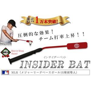 トレーニングバット バッティング練習 野球 素振り Insider Bat インサイダーバット ティーバッティング