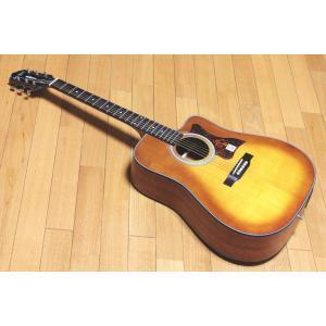 【送料無料】超特価 エピフォン アコースティックギター  Epiphone DR-400MCE VB  オール単板 エレアコ 超特価! ヴァイオリンバースト|arabastamusic