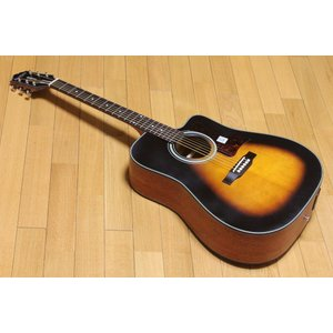 【送料無料】超特価 エピフォン アコースティックギター  Epiphone DR-400MCE VS オール単板 エレアコ  超特価!|arabastamusic