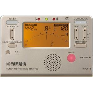 【送料無料】TDM700 ゴールド ヤマハ チューナーとメトロノームが同時に使えるデュアル機能搭載 YAMAHA TDM-700G