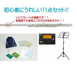 YAMAHA【リッププレート銀製!!】ヤマハ フルート  YFL-212LRS スタンダードシリーズ 初心者用11点セット!! ※Eメカニズム付 YFL-212  flute standard |arabastamusic