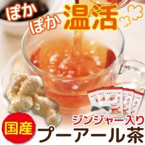 プーアル茶 ジンジャー 国産 プーアール茶 茶流痩々 低カフェイン ジンジャー 2gx10ヶ 5袋 送料無料|arahata