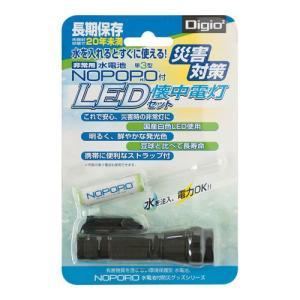 ナカバヤシ Digio2 水電池 NOPOPO [ノポポ]付 LED懐中電灯 NWP-LED-D|araicamera