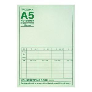 ナカバヤシ INCOMA【インコマ】ノート A5ノート PBS-N-09 家計簿/19週分|araicamera