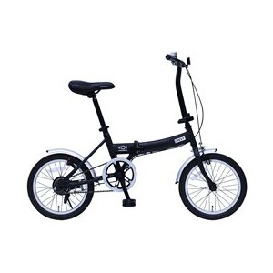 ミムゴ CHEVROLET FDB16G/シボレー16インチ折畳自転車 ブラック MG-CV16G (北海道・沖縄・離島配送不可)|araicamera