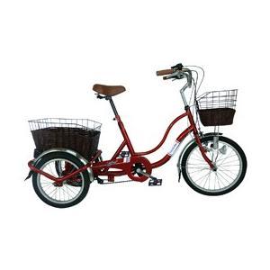 ミムゴ SWING CHARLIE ノーパンク三輪自転車G ワインレッド MG-TRW20NG (北海道・沖縄・離島配送不可)|araicamera