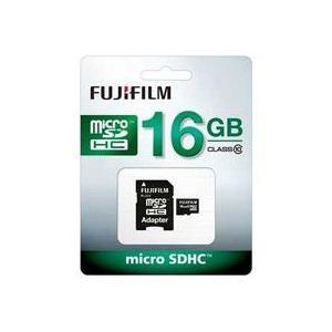 富士フイルム microSDHCメモリーカード 16GB Class10/FUJIFILM F MCSDHC-016G-C10|araicamera