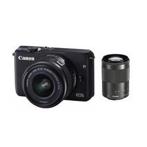Canon EOS EOS M10 ダブルズームキット (ブラック) JAN末番051964 デジタル一眼(ミラーレス一眼カメラ)|araicamera