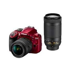 Nikon D3400 ダブルズームキット (レッド) JA...