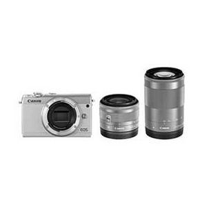Canon EOS M100 ダブルズームキット (ホワイト) JAN末番3919|araicamera
